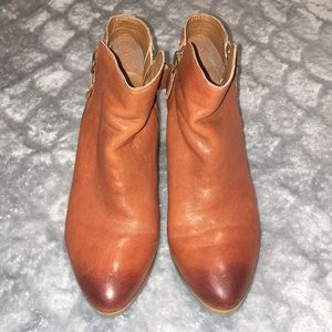 Frye Heeled Ankle Boots Brown Leather 6.5 M EUC